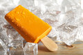 Ice lolly on ice cubes Royalty Free Stock Photo
