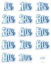 Ice Percent Tags Royalty Free Stock Photo
