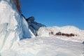 Ice on rocks on Lake Baikal Royalty Free Stock Photos