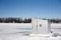 Ice Shanty on a Frozen Lake Royalty Free Stock Photo