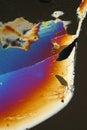 Ice sheet in polarized light Royalty Free Stock Photo