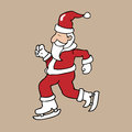 Ice skate Santa Christmas Royalty Free Stock Photo