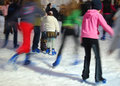 Ice skaters Stock Photo