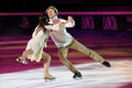 Ice skaters Margarita Drobiazko & Povilas Vanagas Royalty Free Stock Photos