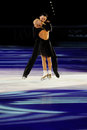 Ice skaters Tatiana Totmianina & Maxim Marinin Stock Photos