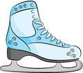 Ice skates for figure skating isolated Royalty Free Stock Image