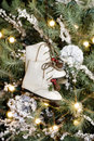 Ice Skates Ornament Royalty Free Stock Photos