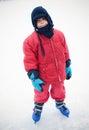 Ice skating boy Royalty Free Stock Photo