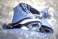 Ice skating is a popular winter sport Royalty Free Stock Photo