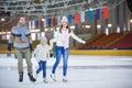 At ice-skating rink Royalty Free Stock Photo