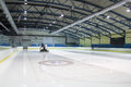 Ice skating rink resurfacer clean in Stock Image