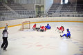Ice Sledge Hockey Royalty Free Stock Image