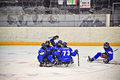 Ice Sledge Hockey Stock Photography