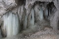 Ice stalactites, Slovak Paradise National park, Slovakia