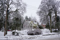 Ice storm december southern ontario heavy freezing rain caused substantial damage to homes trees hydro and communications lines in Stock Image
