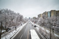 Ice storm toronto december traffic moves in icy condition after the icestorm hits toronto on december Royalty Free Stock Photography