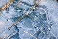 Ice structures Stock Image