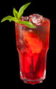 Ice tea with citrus and grenadine Stock Images