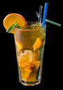 Ice tea with citrus and grenadine Royalty Free Stock Photography