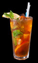 Ice tea with citrus and mint Royalty Free Stock Photo