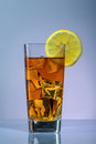 Ice tea the and lemon Stock Photo