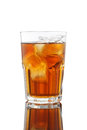 Ice tea and lemon mix honey very fresh isolated Royalty Free Stock Photo