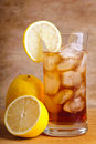 Ice tea and lemons Royalty Free Stock Photos
