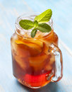 Ice tea with mint and lemon Royalty Free Stock Photo