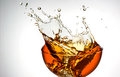 Ice tea splash in glass cold isolated Stock Image