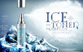 Ice toner ad light blue Royalty Free Stock Photo