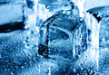 Ice with water droplets Royalty Free Stock Photo