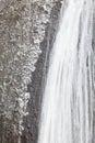 Ice waterfall in winter season Fukuroda Falls Royalty Free Stock Photo