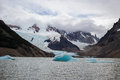 Iceberg floats on lake in Patagonia