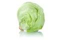 Iceberg head of lettuce fresh vegetable isolated Royalty Free Stock Photo