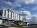 Iceberg hotel in nadym russia august the centre of the city the porch Royalty Free Stock Image