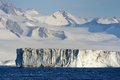 Iceberg iceshelf at antarctica seen from the ship Stock Images