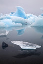 Iceberg landscape drifting pack ice iceland at joulsarlon glacier lagoon due to melting caused by global warming beautiful arctic Stock Photo