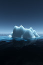 Iceberg in the ocean d render Stock Image