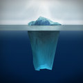 Iceberg this picture is d render of Royalty Free Stock Image