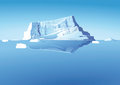 Iceberg in sea an illustration of an the Stock Image