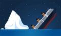 Iceberg shipwreck illustration