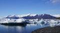 Icebergs in jökulsarlon glacier lake floating iceland Royalty Free Stock Images