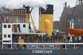 Icebreaker with visitors at the harbour birthday hamburg in germany Royalty Free Stock Photos