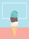 Icecream badge frozen sweets and cold summer.
