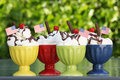 Icecream sundaes Royalty Free Stock Images