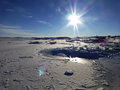 Iced bay antarctica perfect sun at the start of winter in deg c and not a breath of wind the sea ice had only just formed and it Stock Images