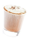 Iced blended frappe coffee isolated on white background selective focus Royalty Free Stock Images