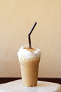 Iced blended frappucino Royalty Free Stock Photography
