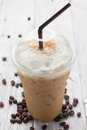 Iced blended frappucino coffee beans Royalty Free Stock Photos