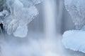 Iced Cascade Royalty Free Stock Photos